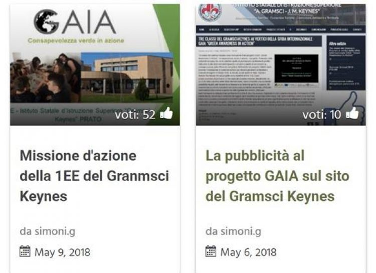 Classifica GAIA Contest 2018