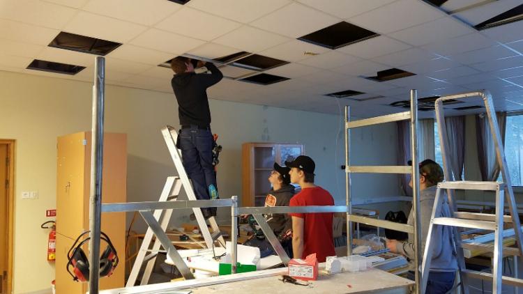 Αλλαγή φωτισμού στο τεχνικό λύκειο του Söderhamn