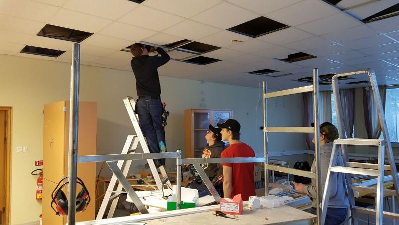 Lighting change at Staffangymnasiet in Söderhamn